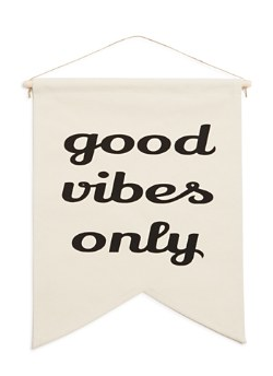 good vibes only canvas banner
