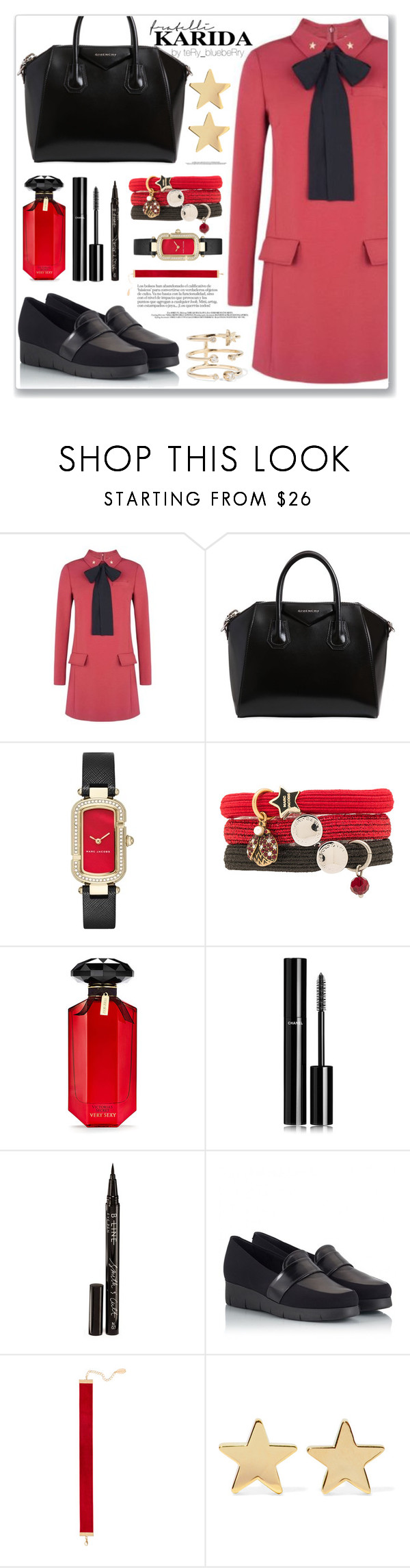 """""""Fratelli Karida: IV"""" by teryblueberry ❤ liked on Polyvore featuring RED Valentino, Givenchy, Marc Jacobs, Victoria's Secret, Chanel, Smith & Cult, PAS DE ROUGE, Chanael K, Jennifer Meyer Jewelry and Andrea Fohrman"""