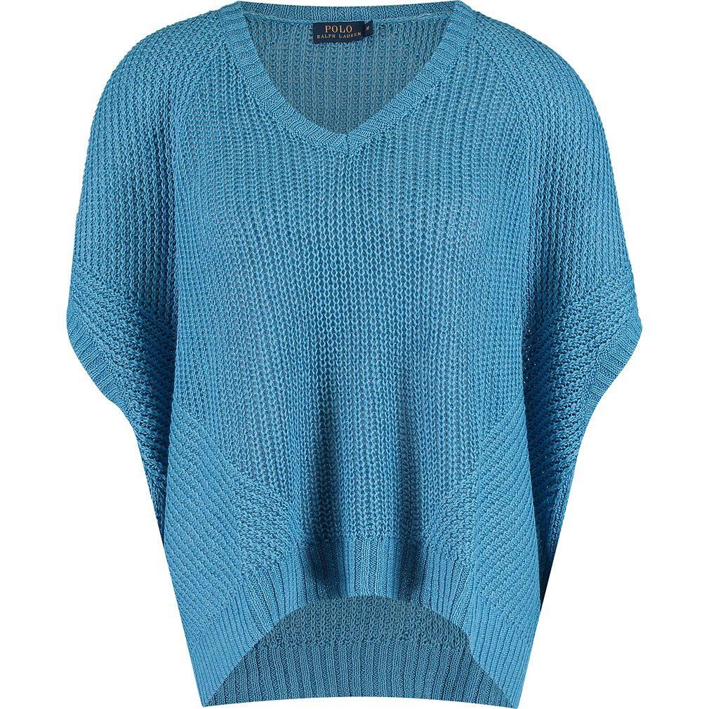 RALPH LAUREN POLO Blue Knitted Linen Jumper.  Large & X-Large  MRRP: £145.00GBP -  AVI Price: £48.00GBP