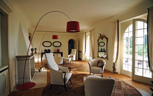 Italien gardasee lazise villa costasanti wohnzimmer mit kamin