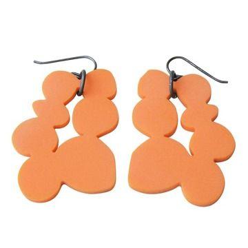 PEARLS Ohrringe orange