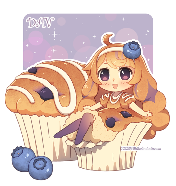 Blueberry muffin by dav on deviantart for Cute muffin drawing