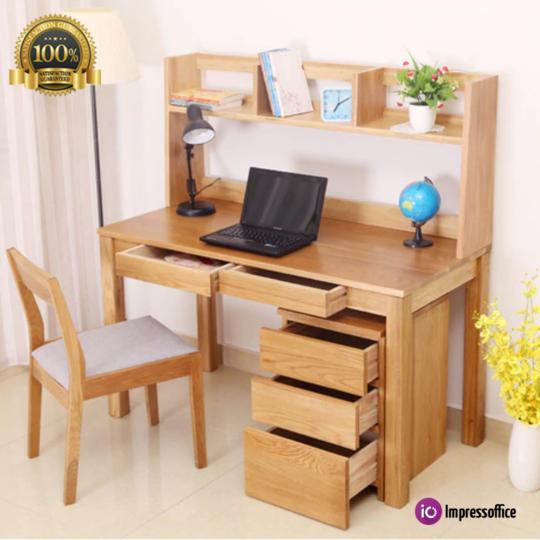 Oak Wood Desk Computer Desks Study Table Office Home Furniture