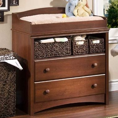 Southshore Sweet Morning Changing Table In Royal Cherry Changing