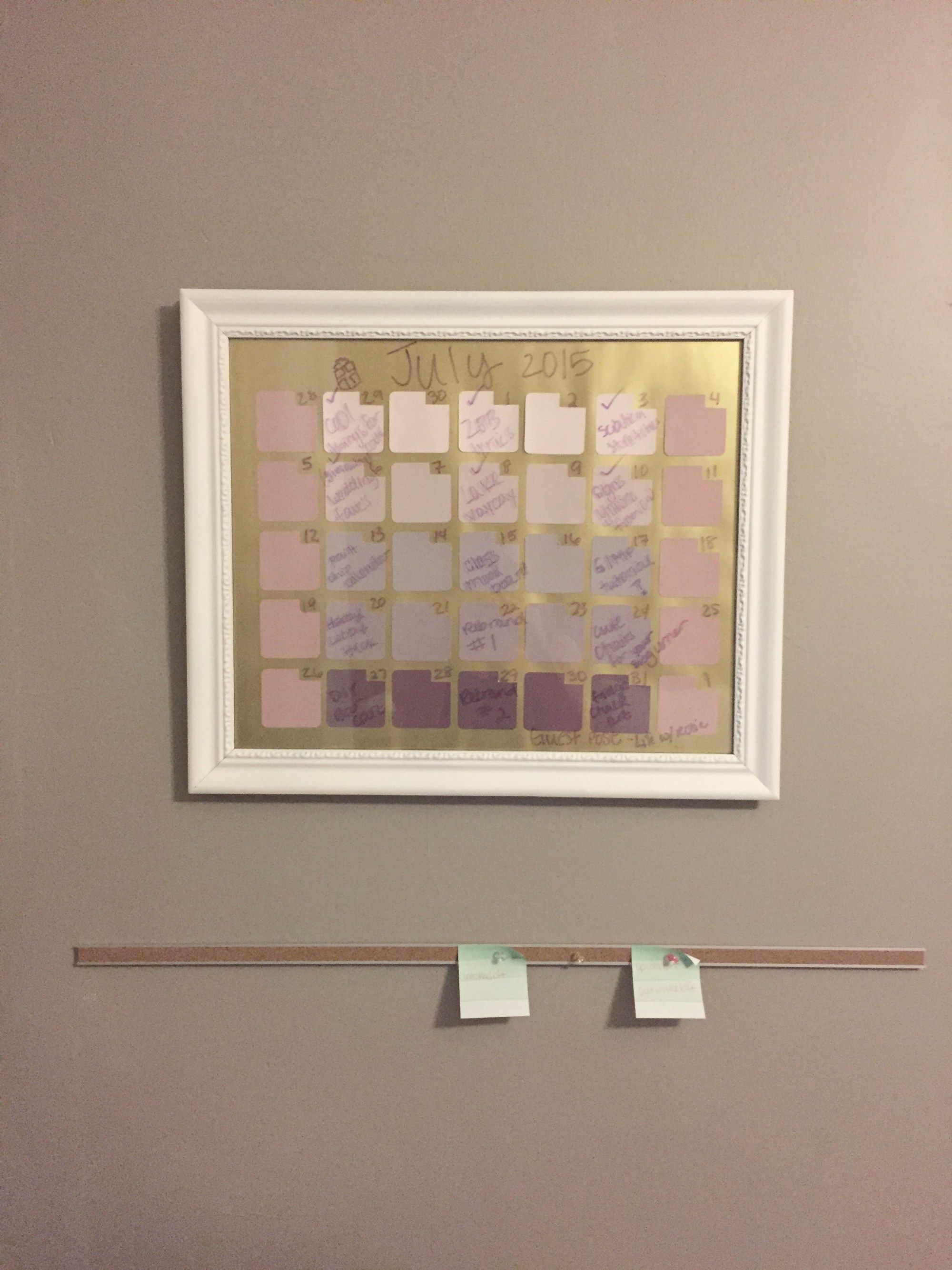 How To Make A Diy Dry Erase Calendar With Paint