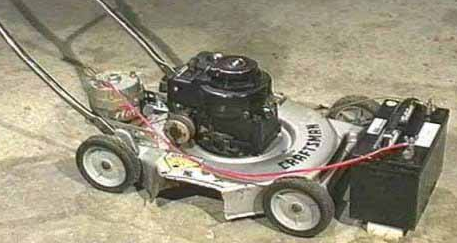 homemade generator.  Generator Portable GasPowered Generator By Unknown  Homemade Portable Gaspowered  Generator Constructed From A Repurposed Lawnmower An Automotive Alternator  With V
