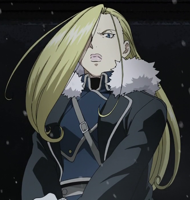 Olivier Mira Armstrong Fullmetal alchemist, Alchemist, Anime