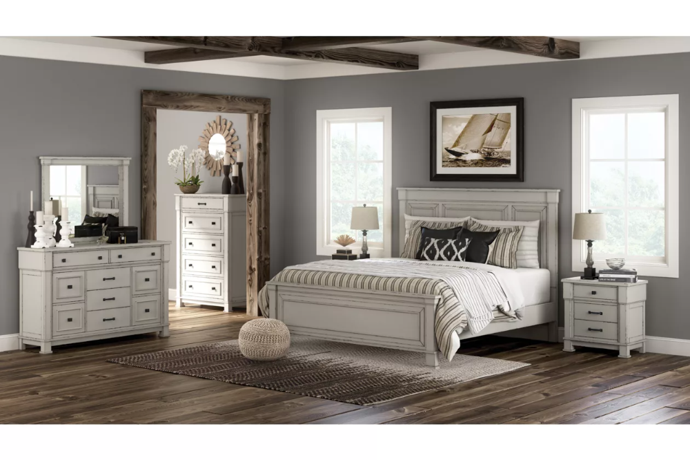 Jennily Queen Panel Bed With Dresser Ashley Furniture Homestore Furniture Ashley Furniture White Bedroom Furniture