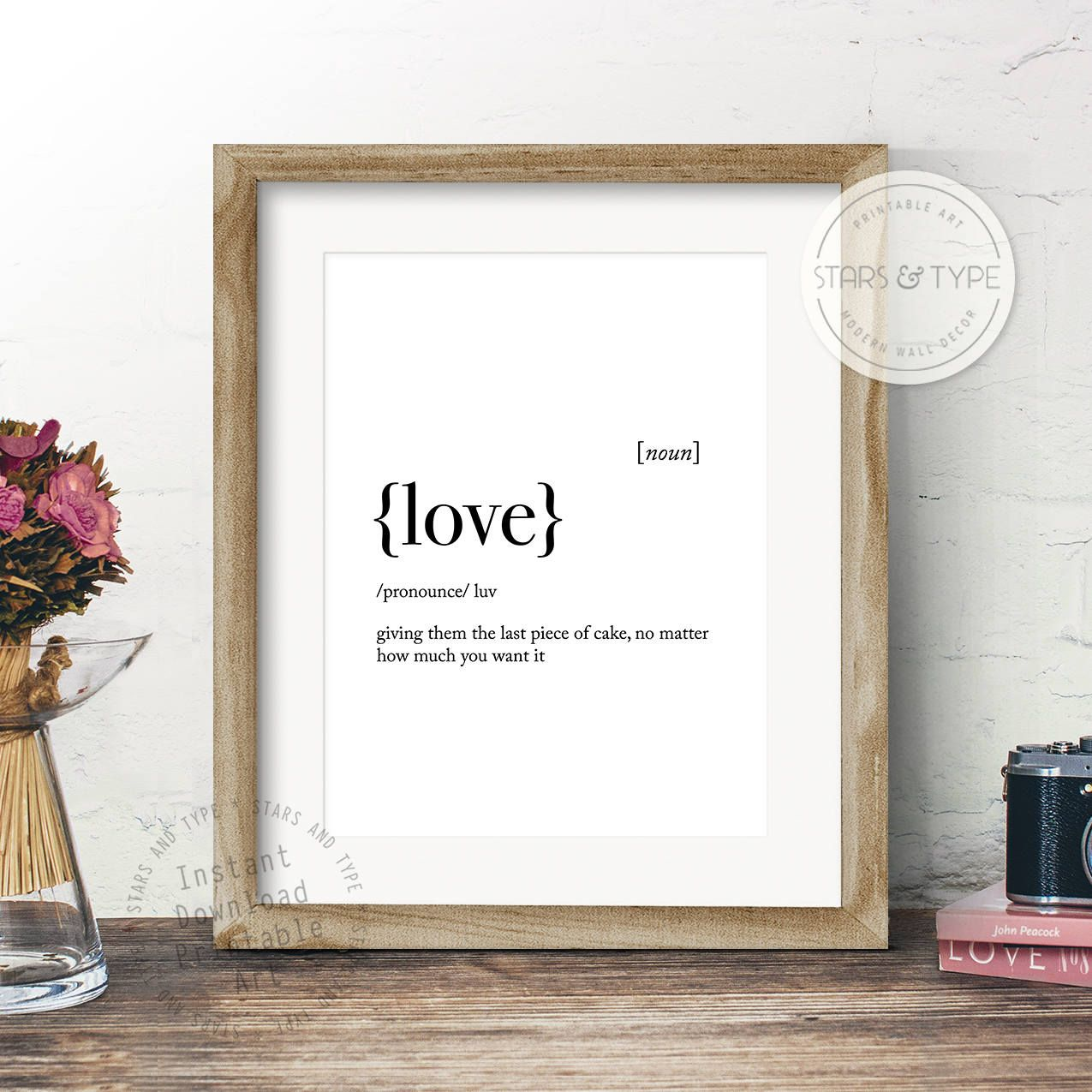 & Sign Decor Meaning Love Dictionary Definition Meaning Printable Wall Art Funny Love