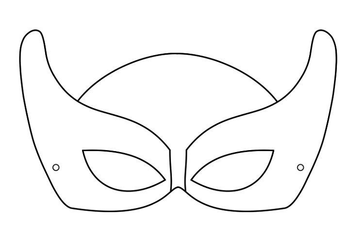 Superhero Mask Coloring Pages Download Or Print The Image Below
