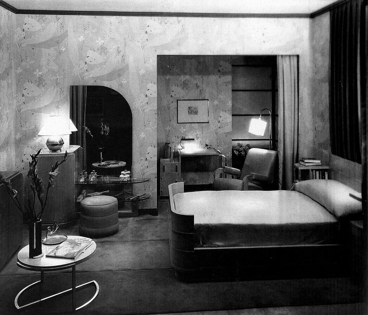 Art Deco Apartment Interior: Apartment Of Mrs. John D. Rockefeller, Jr., Donald Deskey