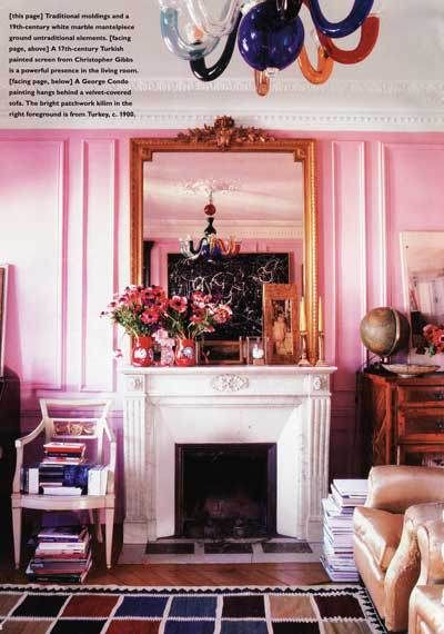 StyleFile #47: Think Pink For Decorating | Paris living rooms ...