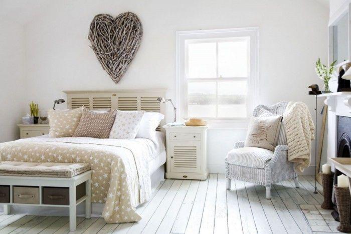 sfeervolle landelijke slaapkamer - bedroom / slaapkamer, Deco ideeën