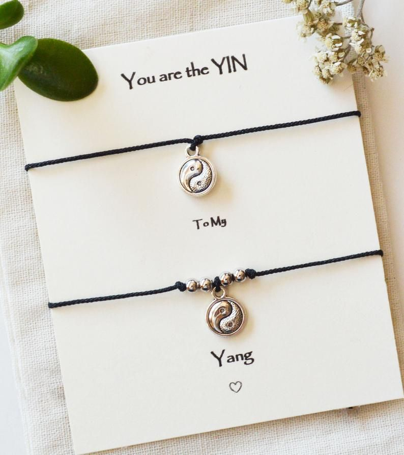 Couples bracelets, Yin Yang jewelry, Yin Yang couple bracelets, Yin Yang Friend bracelets, boyfriend girlfriend bracelets, couples jewelry