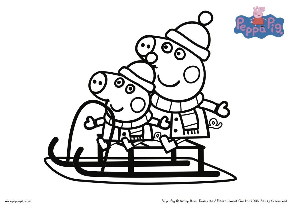 Peppa Pig Printable Christmas Worksheets Peppa Pig Coloring
