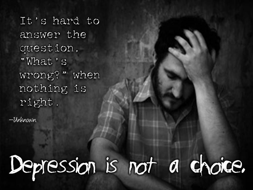 Pin on Depression is Not a Choice