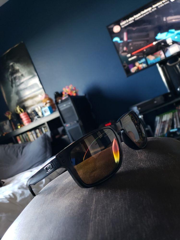69829b7851152 Oakley Holbrook Black Matte Frame Copper Prizm Polarized Lens Sunglasses   fashion  clothing  shoes  accessories  mensaccessories ...