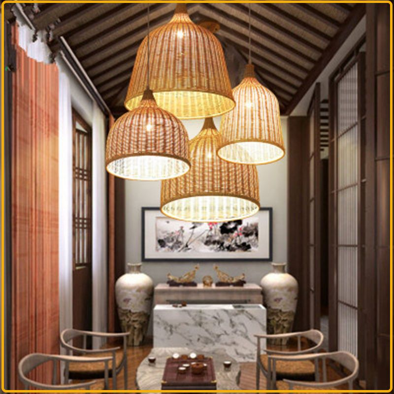Led Light Chandelier Bell Shaped Handmade Decorative Hanging