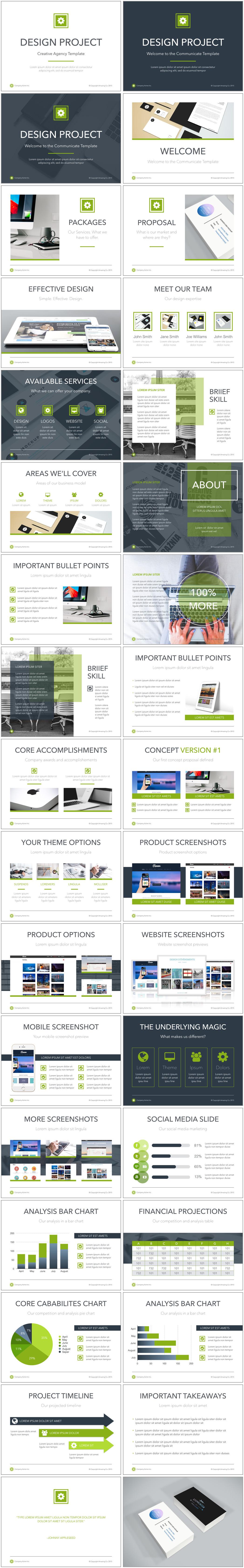 Design Project Presentation Proposal Keynote Templates
