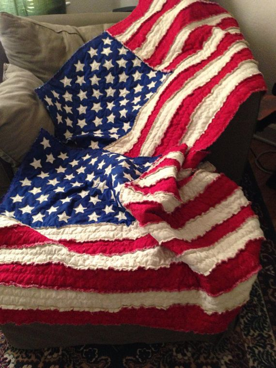 American Flag Rag Quilt Pattern | Quilt sizes, Rag quilt and Lap quilts