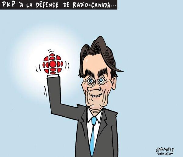 Les caricatures de Garnotte: PKP à la défense de Radio-Canada...