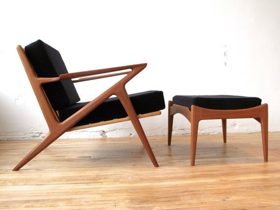 Authentic Vintage Selig Z Chair And Ottoman In By Elefantdesign