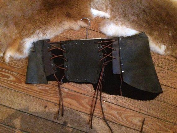 wild skirt leather Festival Medieval Lagertha Larp von Elbengard