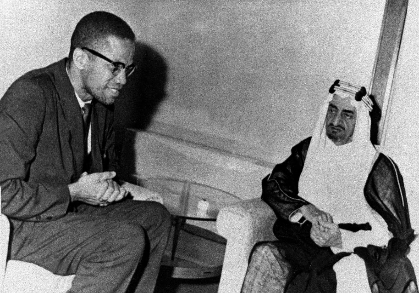 Malcolm X with King Faisal of Saudi Arabia, apparently Malcolm X ...