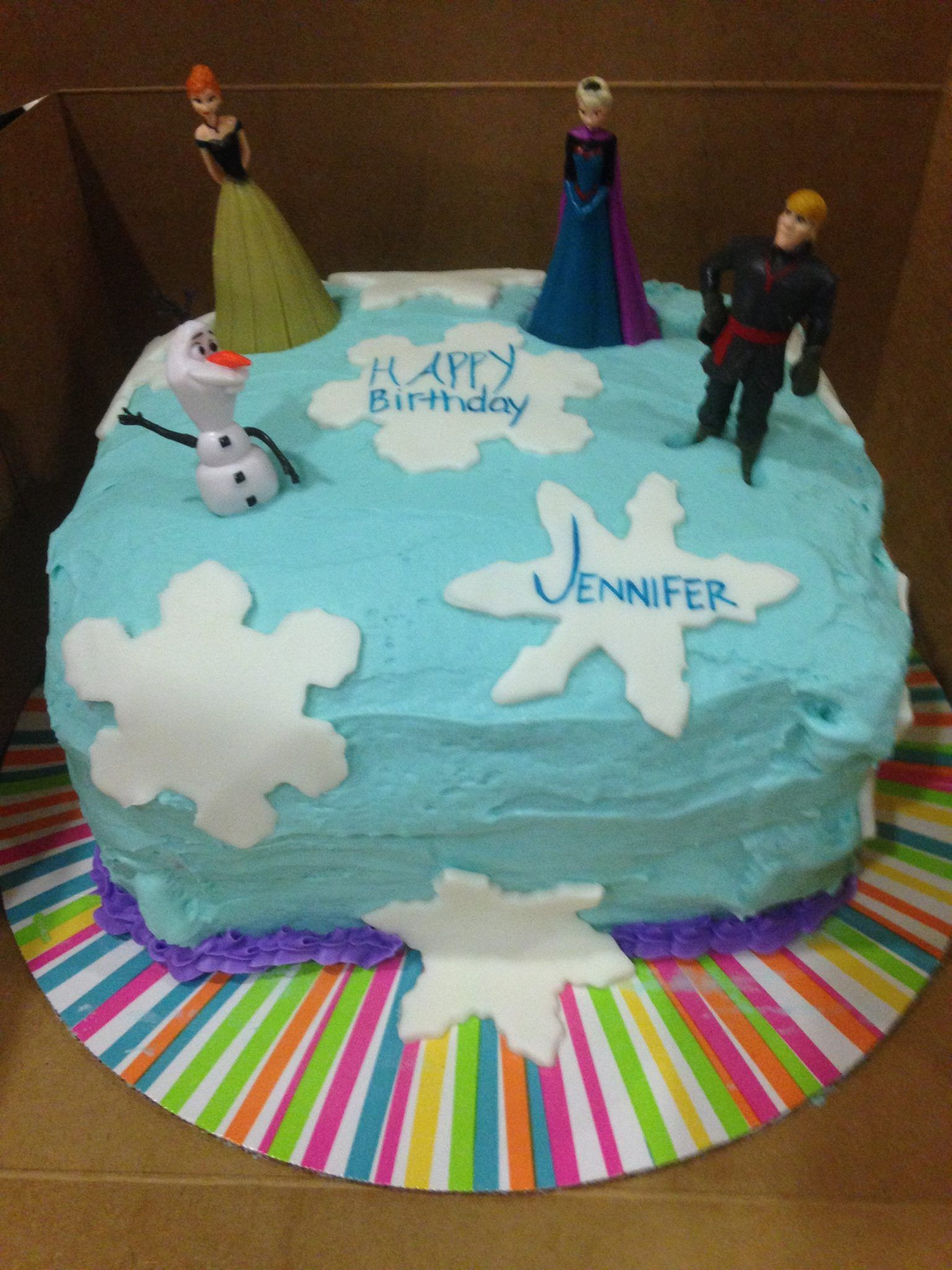 Frozen Themed Cake by Vickie and Riley F.