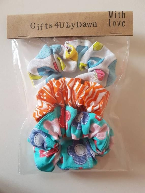 Pack of 3 hair scrunchies, Hair scrunchie set, Hair accessories, Childs hair set #hairscrunchie