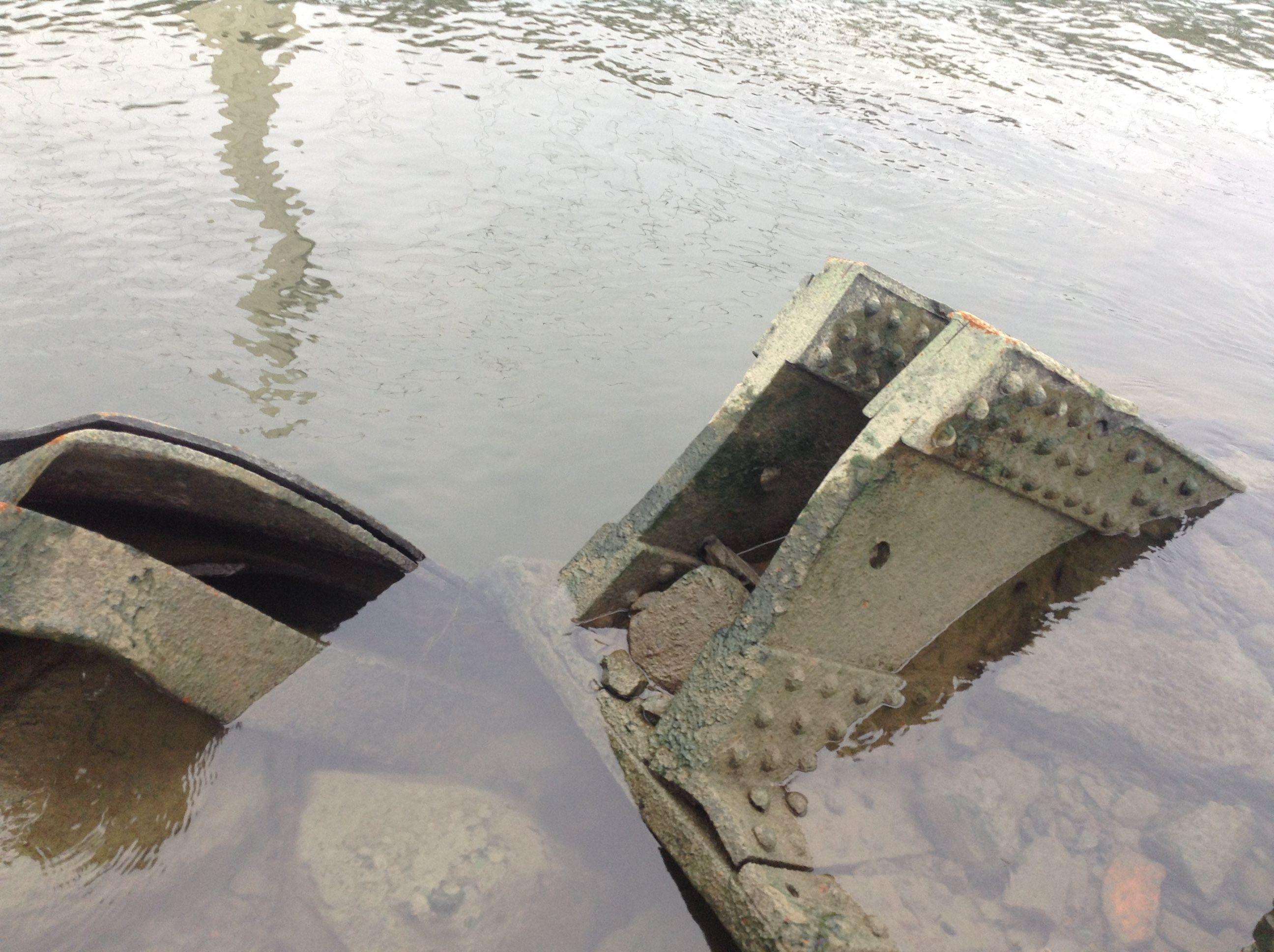 Débris du premier pont de Quebec