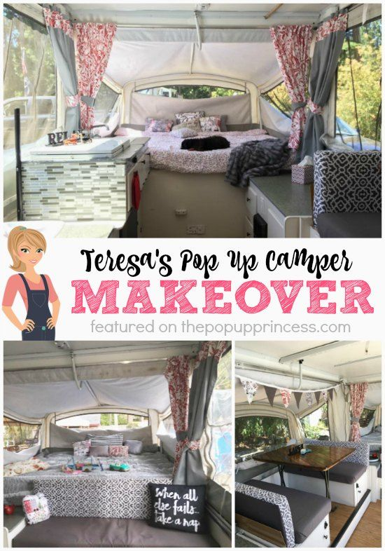 Teresa S Pop Up Camper Remodel Camper Makeover Remodeled