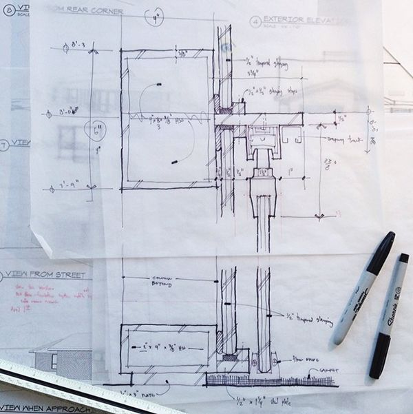 Architecture Design Drawing Techniques architectural sketch detail line weight | arquitectura (sketch