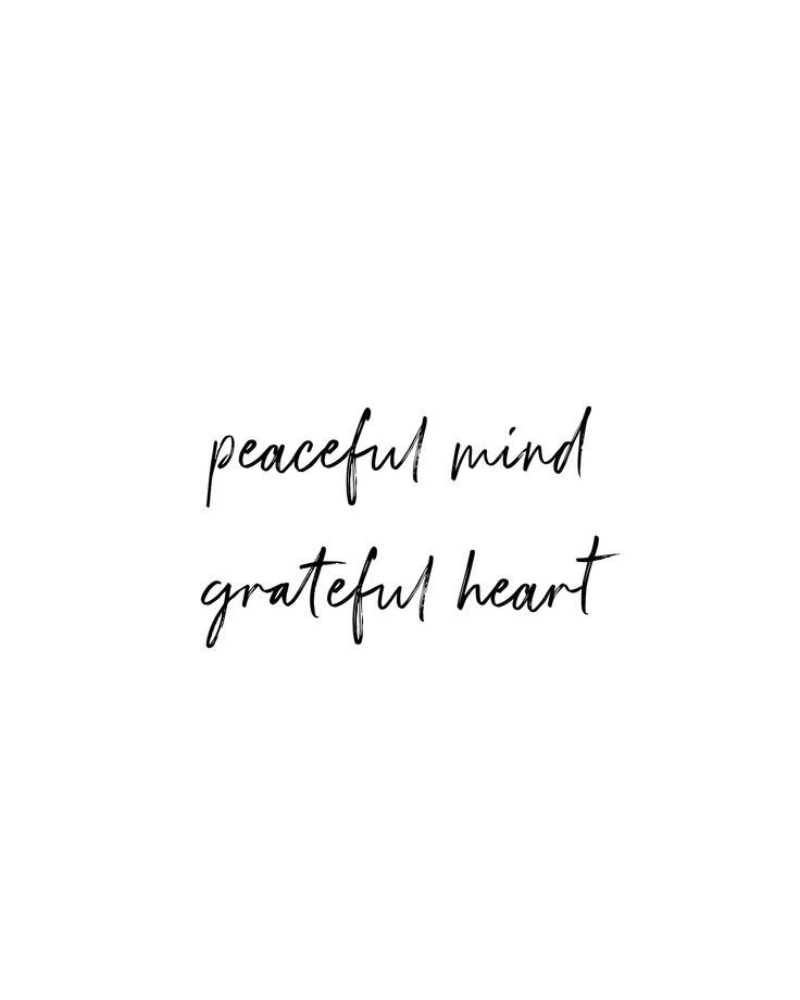 Printable Peaceful Mind & Gratitude Yoga Quote   Wall Art and Home Decor   Instant Download Print   5x7   8x10   11x14   16x20   20x30   A4