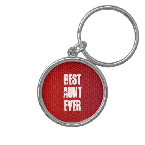 Best AUNT Ever Red Star Pattern Gift Idea Keychain  To see more customizable Jaclinart AUNT gift items: http://www.zazzle.com/jaclinart/gifts?cg=196846084088937483 #aunt #gift #create #family #ForHer #custom #jaclinart
