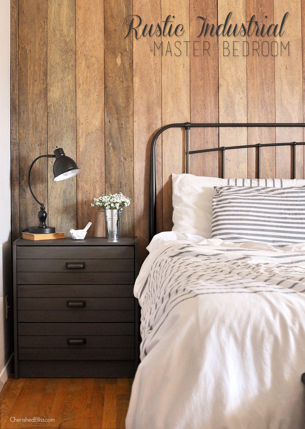 Rustic Industrial Master Bedroom Reveal | Rustic master ...