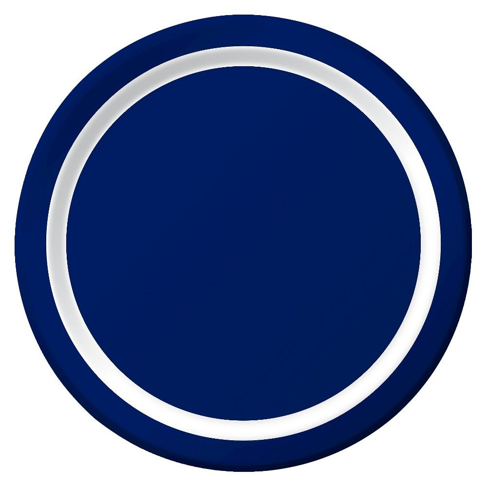 Spritz Solid Dinner Plates Navy 9 10 Ct