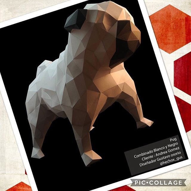 Pug Dog Puglife Puglove Papercraft Papercrafting Papercrafts