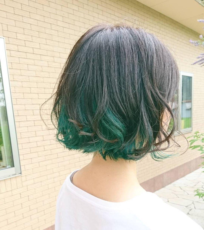 Greenhair グリピhair イルミナカラー ブリーチカラー グリーン