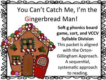 Soft Or Hard G Gingerbread Story Board Game And Sort Orton
