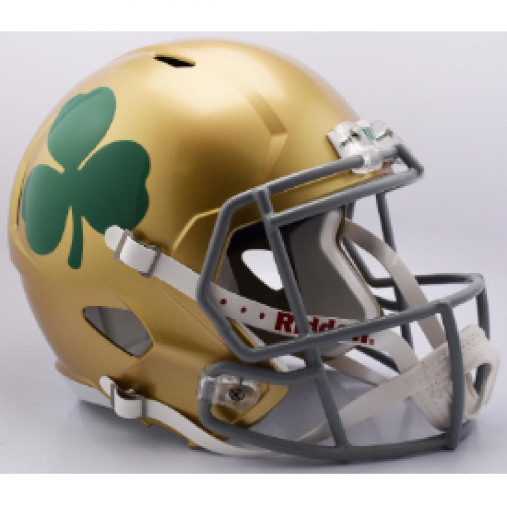 Riddell Ncaa Notre Dame Fighting Irish Shamrock Replica Speed Full Size Football Helmet Football Helmets Notre Dame Fighting Irish Helmet