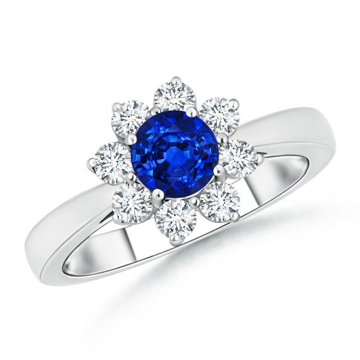 Angara Blue Sapphire and Pink Sapphire Love Knot Ring in White Gold x8Fi5NZzm