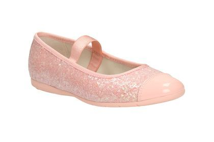Clarks Dance Glam Inf, Peach, Girls Shoes