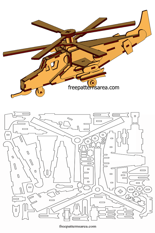 Wooden Model Helicopter 3d Laser Cutter Project Plans Dxf