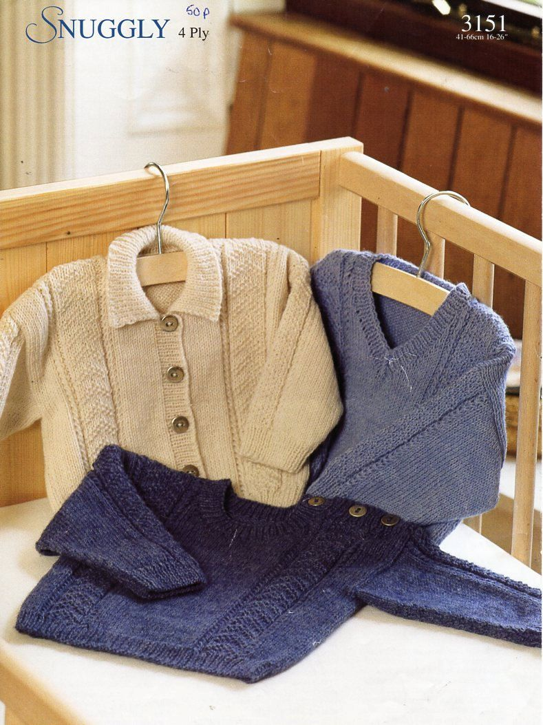 169973f04 baby   childs 4ply jacket sweaters knitting pattern pdf collar ...