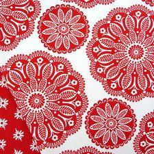 Michael Miller Red kaleidoscope fabric / Scandinavian Christmas stocking