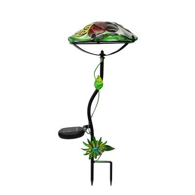 Continental Art Center Mushroom Solar Garden Stake Color: Green