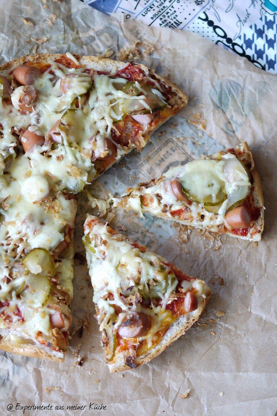 Hot Dog-Fladenbrotpizza | Experimente aus meiner küche, Küche und ...
