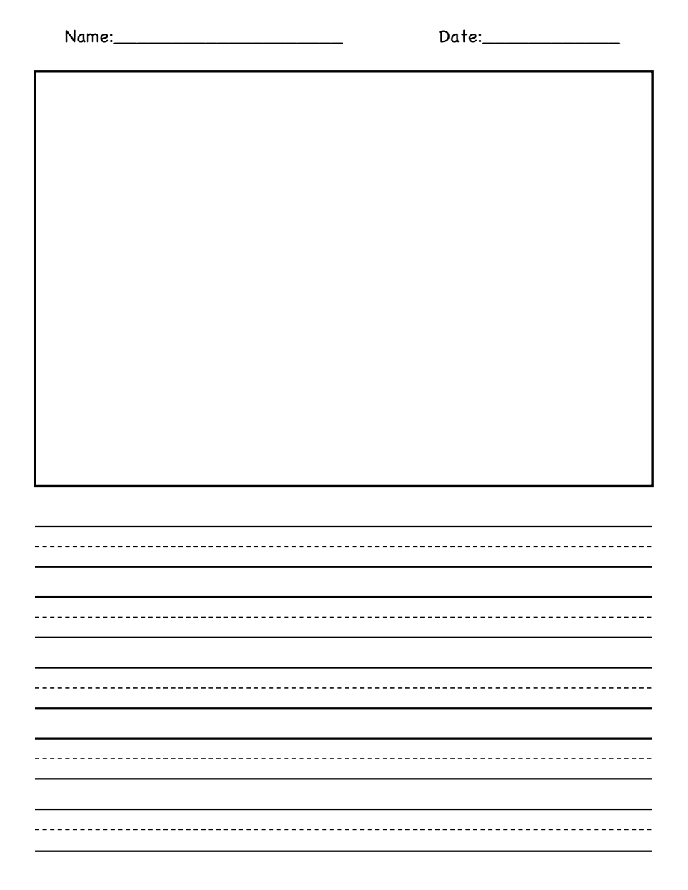 blank picture and writing paper pdf 1st grade writing pinterest