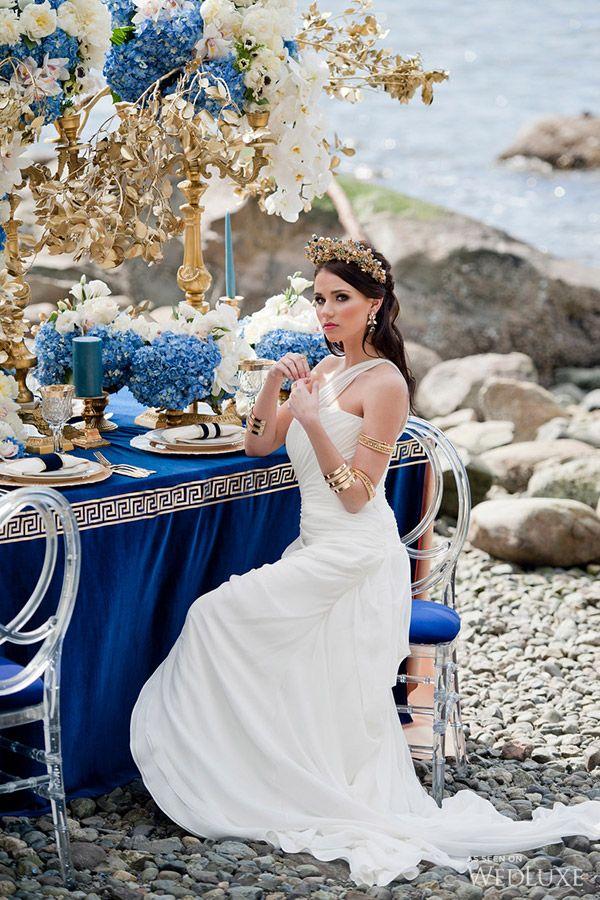Odyssey Of Love Wedluxe Magazine Grecian Wedding Greek Wedding Theme Greek Wedding